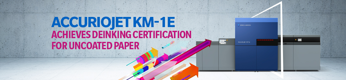 AccurioJet KM-1e Achieves Deinking Certification for Uncoated Paper